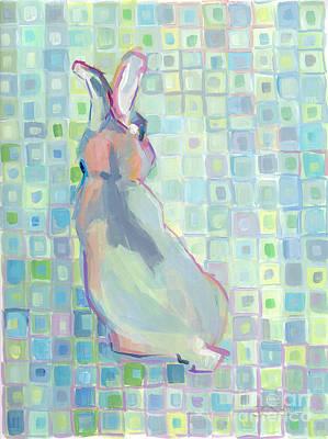 Kelly Painting - Blu by Kimberly Santini
