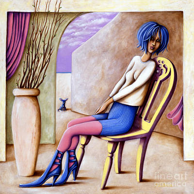 Painting - BLU by Valerie White