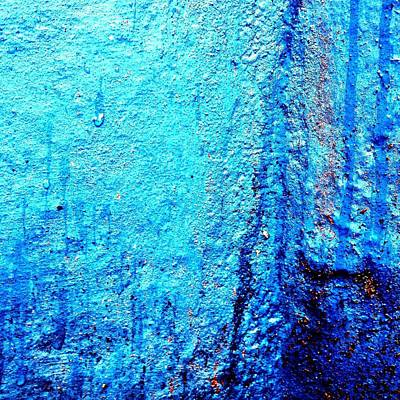 Abstract Wall Art - Photograph - Blu Wall 2 by Jason Michael Roust