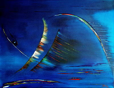 Painting - Blue 1 by David Hatton