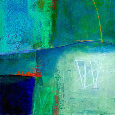 Blue Abstract Painting - Blue #1 by Jane Davies