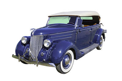 Photograph - Blue 1936 Ford Phaeton Convertible  by Keith Webber Jr
