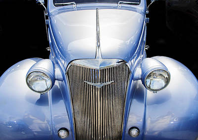 Blue Chevy Photograph - Blue 1937 Chevy Too by Rich Franco