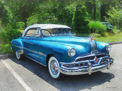 Photograph - Blue 1951 Pontiac by Susan Savad
