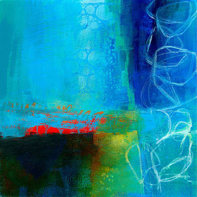 Acrylic Painting - Blue #2 by Jane Davies