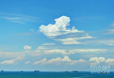 Que Photograph - Blue A Sailors Delight by Bob Hislop