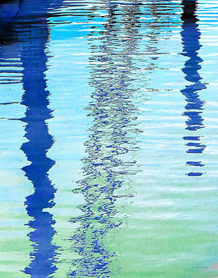 Photograph - Blue Abstract Reflection by Shawna Rowe