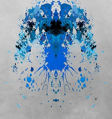 Blue Alien Art Print