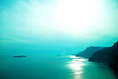 Photograph - Blue Amalfi Sea by Susan Schmitz