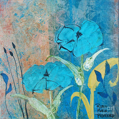 Painting - Blue Ambiance by Robin Maria Pedrero