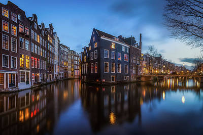 Amsterdam Wall Art - Photograph - Blue Amsterdam by Clara Gamito
