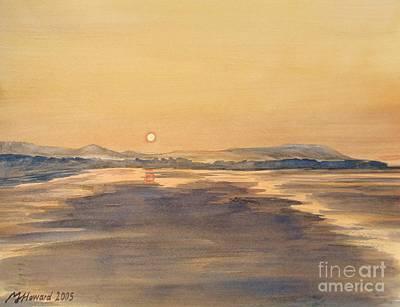 Rambling Painting - Blue Anchor Sunset by Martin Howard