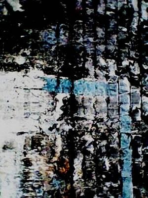 Blue And Geometric Original by Jose Joaquin Bejarano