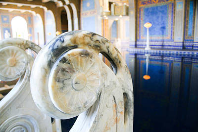 Laura Palmer Photograph - Blue And Gold Marble In A Turkish-style Pool by Laura Palmer