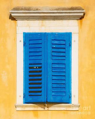 Photograph - Blue And Gold Window by Kate McKenna