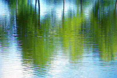 Photograph - Blue And Green Abstract by Judy Salcedo