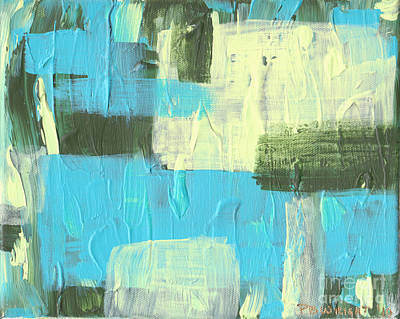 Painting - Blue And Green Abstract by Paulette B Wright