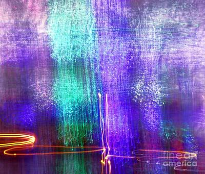 Photograph - Blue And Green Light Painting by Yali Shi