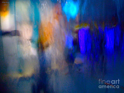 Blue And Green Marine Abstract Art Print by  Andrzej Goszcz