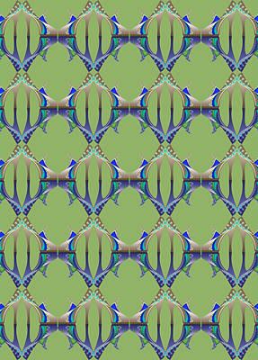 Digital Art - Blue And Green Mules by Deborah Runham