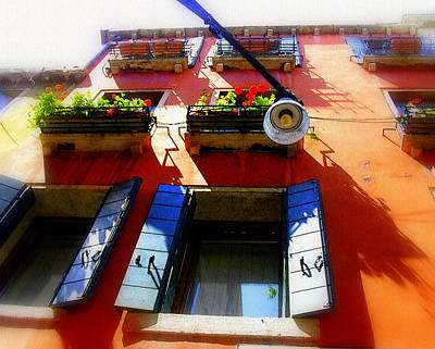Photograph - Blue And Orange In Venice by Jodie Marie Anne Richardson Traugott          aka jm-ART
