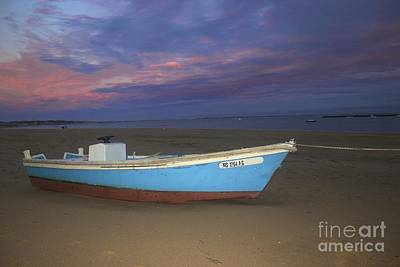 Photograph - Blue And Orange Skiff by Amazing Jules