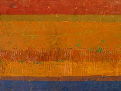 Painting - Blue And Orange With Rust by Michelle Calkins