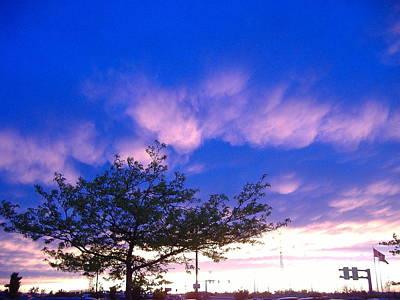 Blue And Purple Skies At Sunset Original by Elisabeth Ann