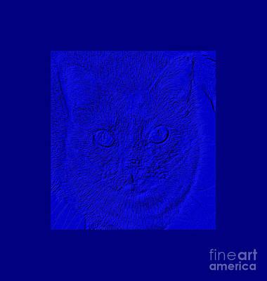 Digital Art - Blue And Royal Blue by Oksana Semenchenko