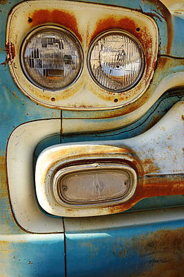 Photograph - Blue And Rust -photograph by Ann Powell