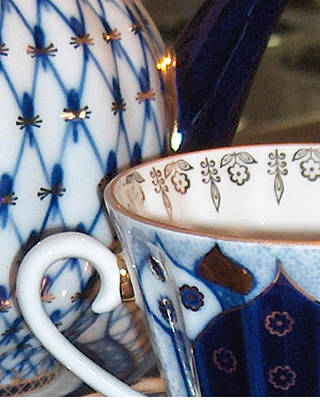 Blue And White Porcelain Photograph - Blue And White China by Mary Nickelsberg