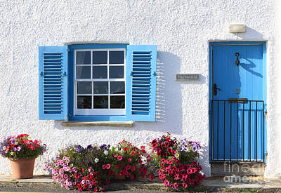 Blue And White Cottage Original
