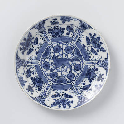 Blue And White Delft Pottery Art Print by Quint Lox
