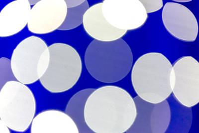 Blue And White Light Art Print