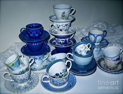 Photograph - Blue And White  by Nancy Patterson