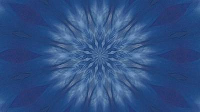 Digital Art - Blue And White Pencil by Richard Zentner