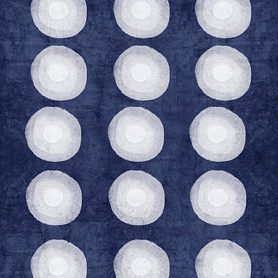 Blue And White Shibori Balls Art Print