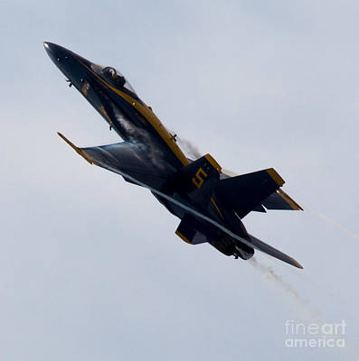 Flying Photograph - Blue Angel 5 Condensation Climb by John Daly