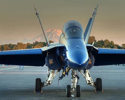Art Print featuring the photograph Blue Angel At Sunset by Jeff Cook