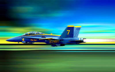 Photograph - Blue Angel by Herb Paynter