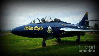Photograph - Blue Angel Jet by Susan Garren