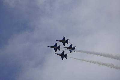 Photograph - Blue Angels 2 by Laurie Perry