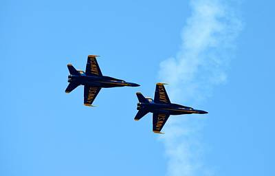 Photograph - Blue Angels 3 by Richard Bryce and Family