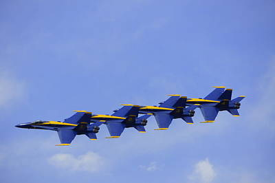 Photograph - Blue Angels 7 by Laurie Perry