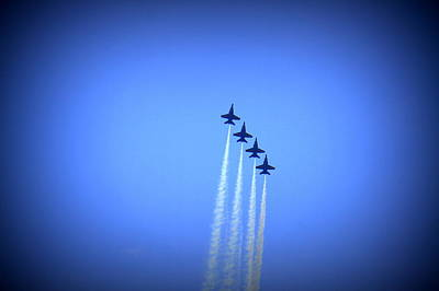 Photograph - Blue Angels 8 by Laurie Perry