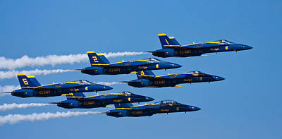 Jet Photograph - Blue Angels by Adam Romanowicz