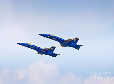 Photograph - Blue Angels - Awesome Fly-over by John Waclo