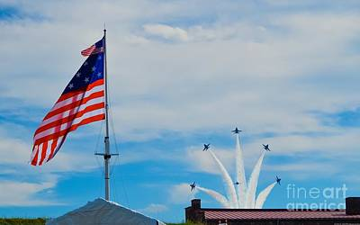 Photograph - Blue Angels Bomb Burst In Air Over Fort Mchenry 1 Of 5 by Jeff at JSJ Photography