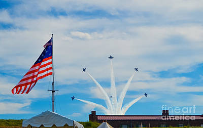 Photograph - Blue Angels Bomb Burst In Air Over Fort Mchenry 2 Of 5 by Jeff at JSJ Photography