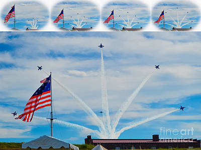 Photograph - Blue Angels Bomb Burst In Air Over Fort Mchenry Vignette Series by Jeff at JSJ Photography